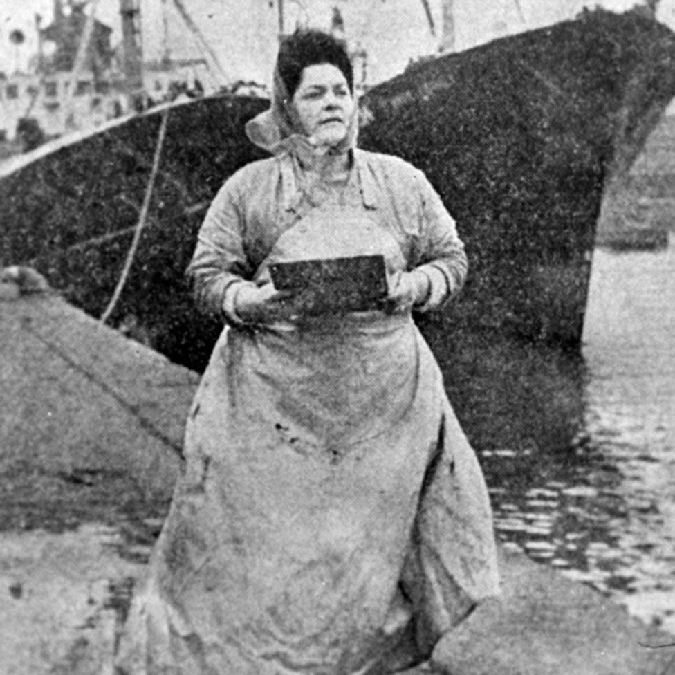 Lillian Bilocca with her clipboard
