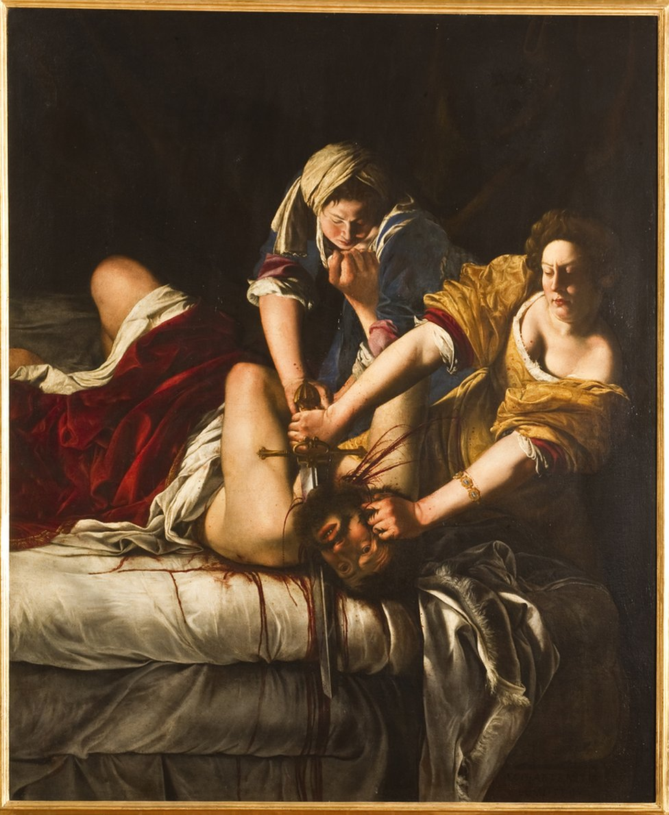 Judith beheading Holofernes, about 1613-14