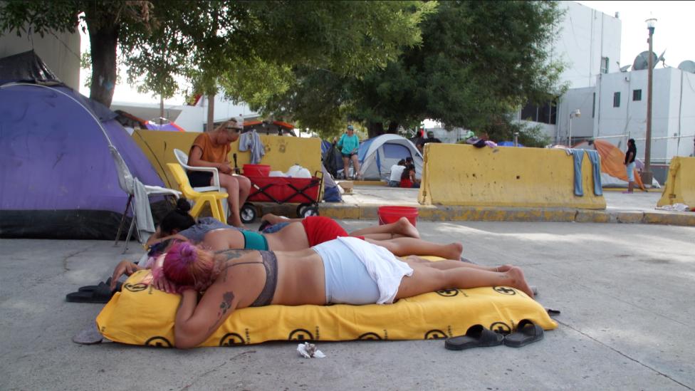 Los migrantes están en situación de calle.