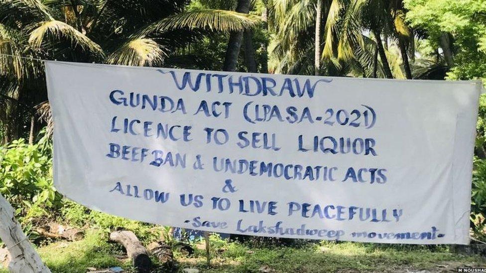 Protest in Lakshadweep