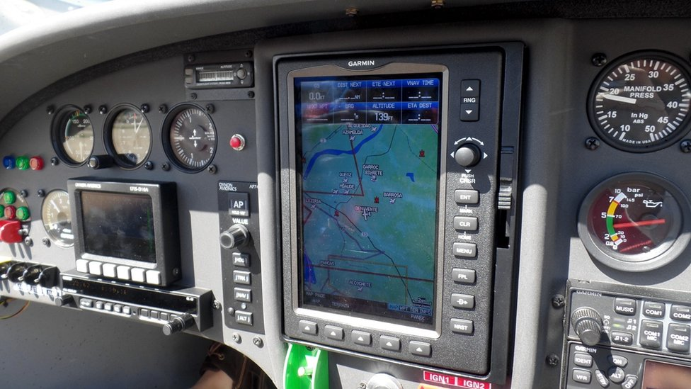 Photo of the cockpit
