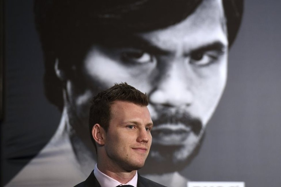 Australian boxer Jeff Horn looks on during a press conference in Brisbane, Queensland, Australia, 26 April 2017. World Boxing Organization (WBO) welterweight world champion Pacquiao will fight world number two ranked Jeff Horn in Brisbane on 02 July.