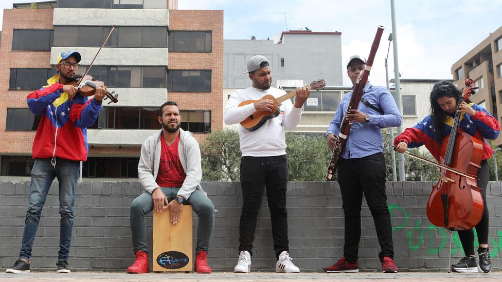 Musicos venezolanos en Colombia