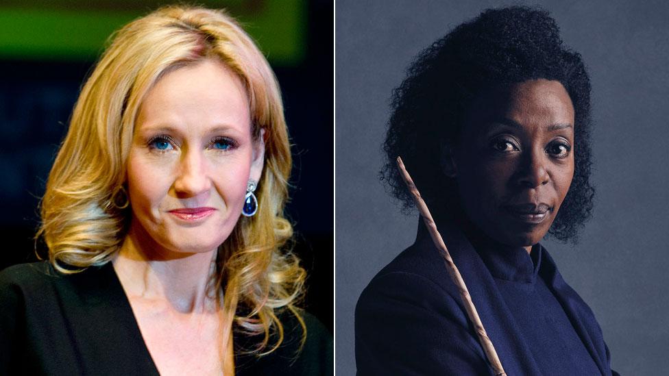 JK Rowling and Noma Dumezweni as Hermione