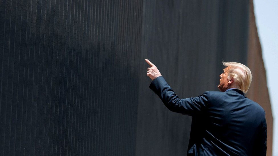 President Trump visiting the wall
