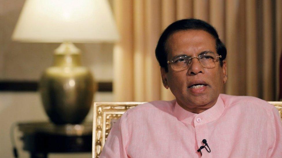 Presidente de Sri Lanka, Maithripala Sirisena.