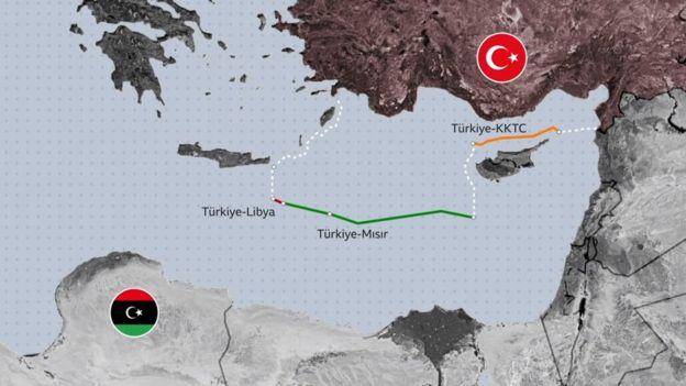 Türkiye ve Libya arasında imzalanan deniz yetki alanları anlaşması