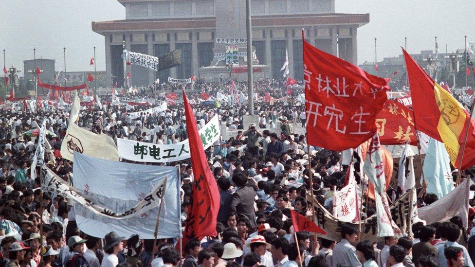 Protestas en Tiananmen en 1989