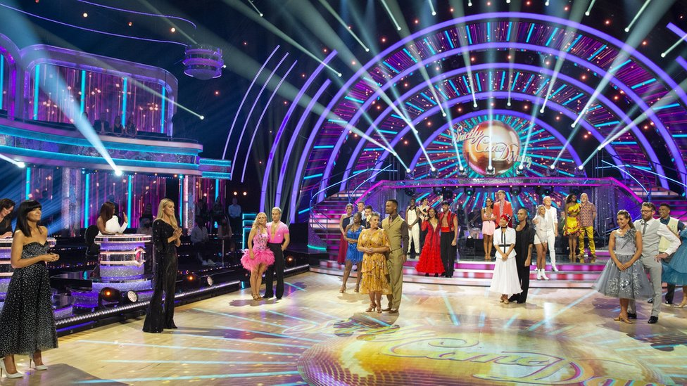 BBC handout photo of the couples during the Live show on Saturday for the BBC1 dancing contest, Strictly Come Dancing.