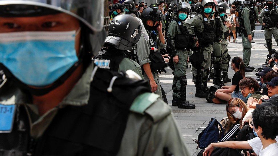 تظاهرة في هونغ كونغ في 27 مايو 2020