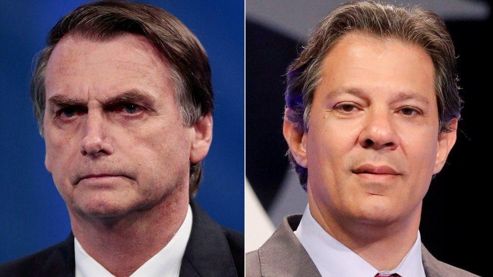 يائير بولسونارو يفوز بالجولة الأولى في انتخابات الرئاسة بالبرازيل