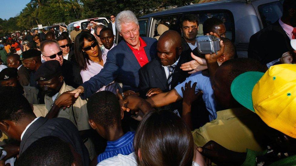 Bill Clinton in Tanzania in 2007