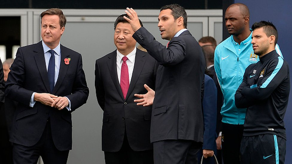 Xi Jinping visited the Manchester City Football Club in 2015