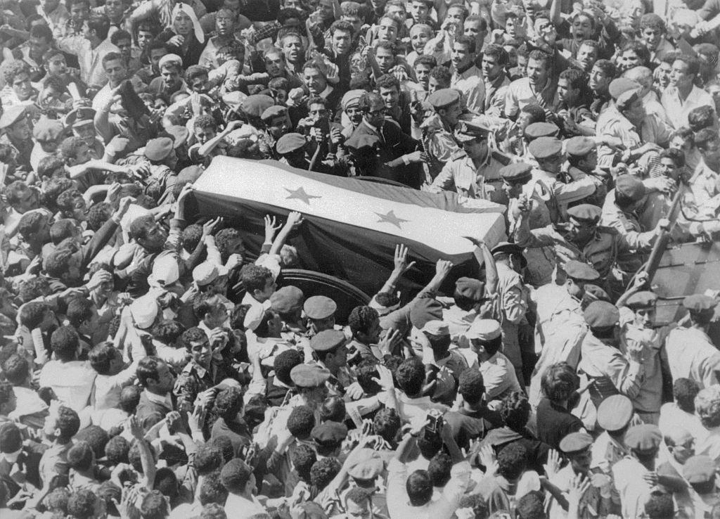 جنازة مهيبة لجمال عبد الناصر
