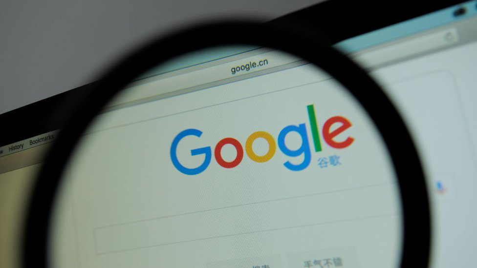 Pantalla de Google.