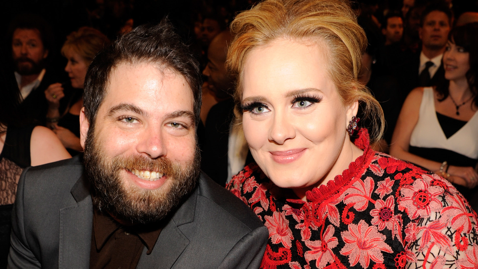 Adele and Simon Konecki at the Grammy Awards in 2013