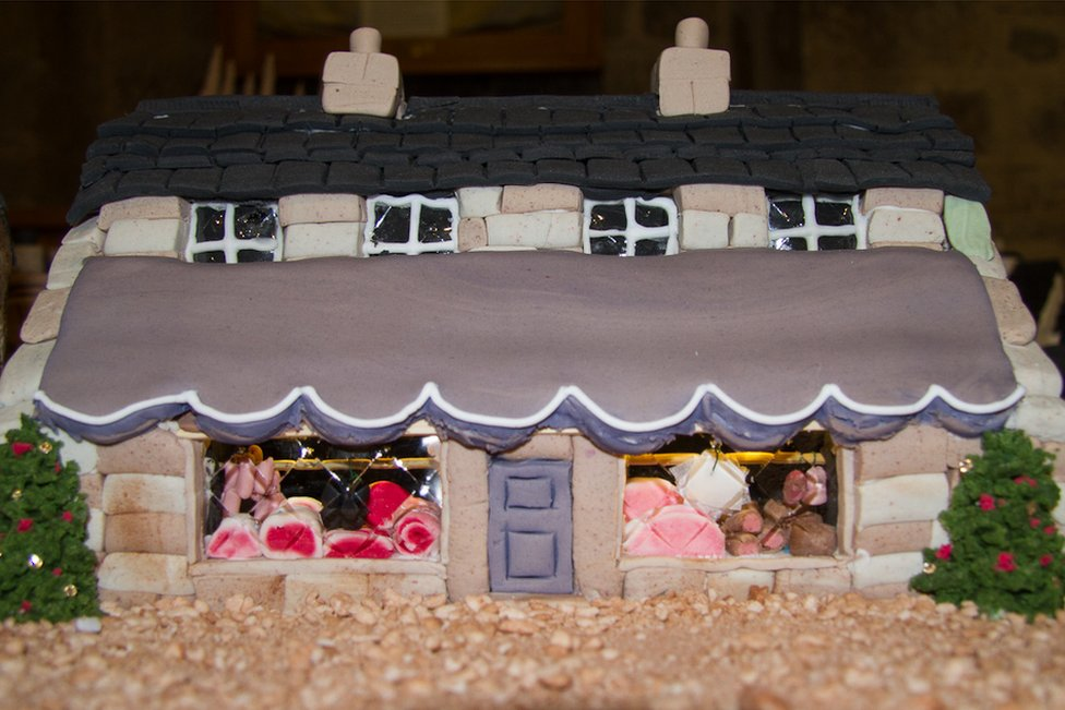 Butcher's shop made from cake