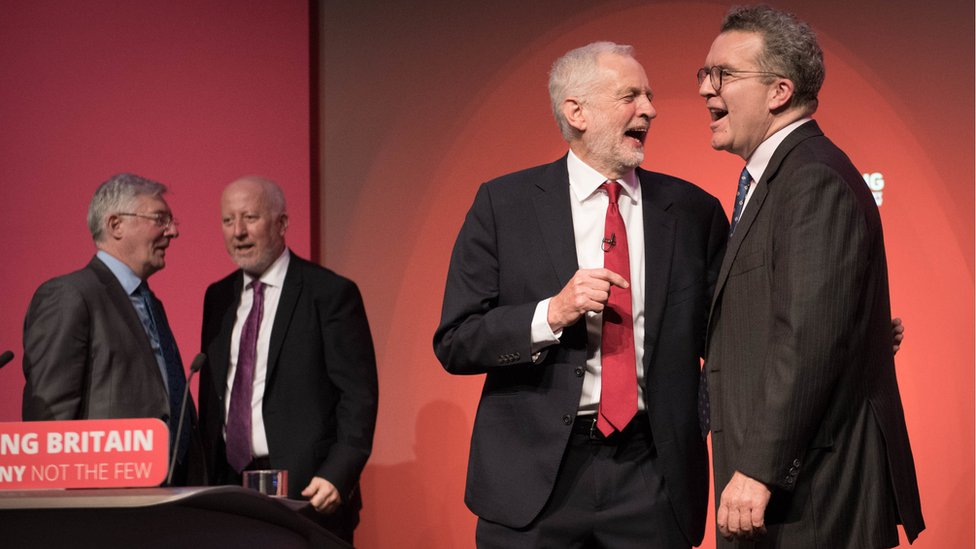 Labour leader Jeremy Corbyn (left) and Tom Watson, as the party have announced Mr Watson will be stepping down as both the deputy leader and as an MP