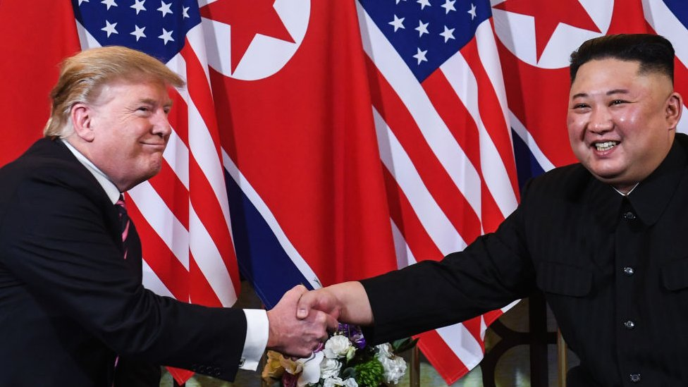 North Korea Questions Need To Keep Holding Hands With Us Bbc News