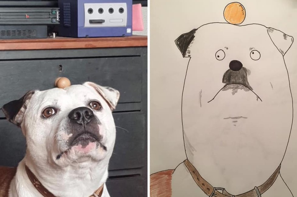 Cartoon of a dog