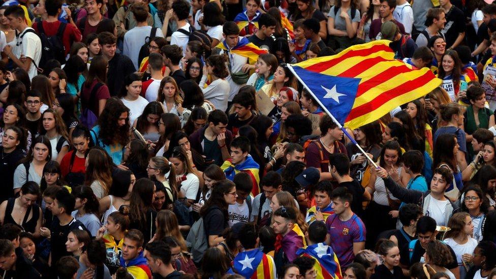 Protestas en Barcelona.