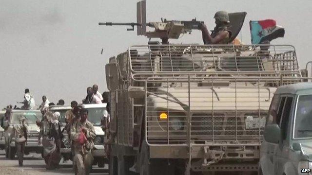 Loyalist forces recapturing Al-Anad airbase