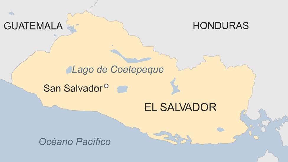 Mapa Lago de Coateteque.