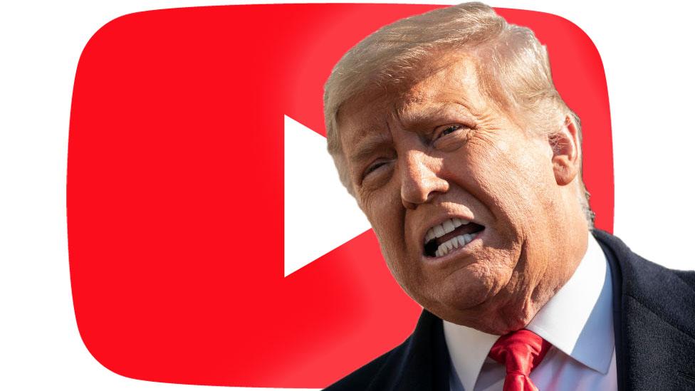 Логотип Трампа на YouTube
