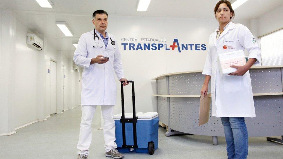 Funcionários da Central de Transplantes do Estados do RJ
