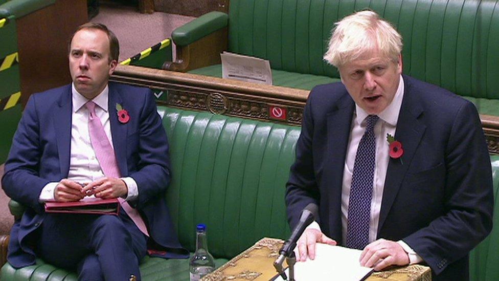 Boris Johnson doesn't confirm lockdown will end on 2 December