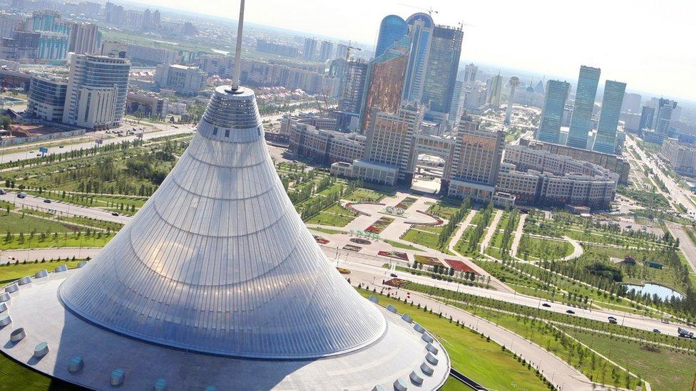 Astana, capital de Kazajstán.