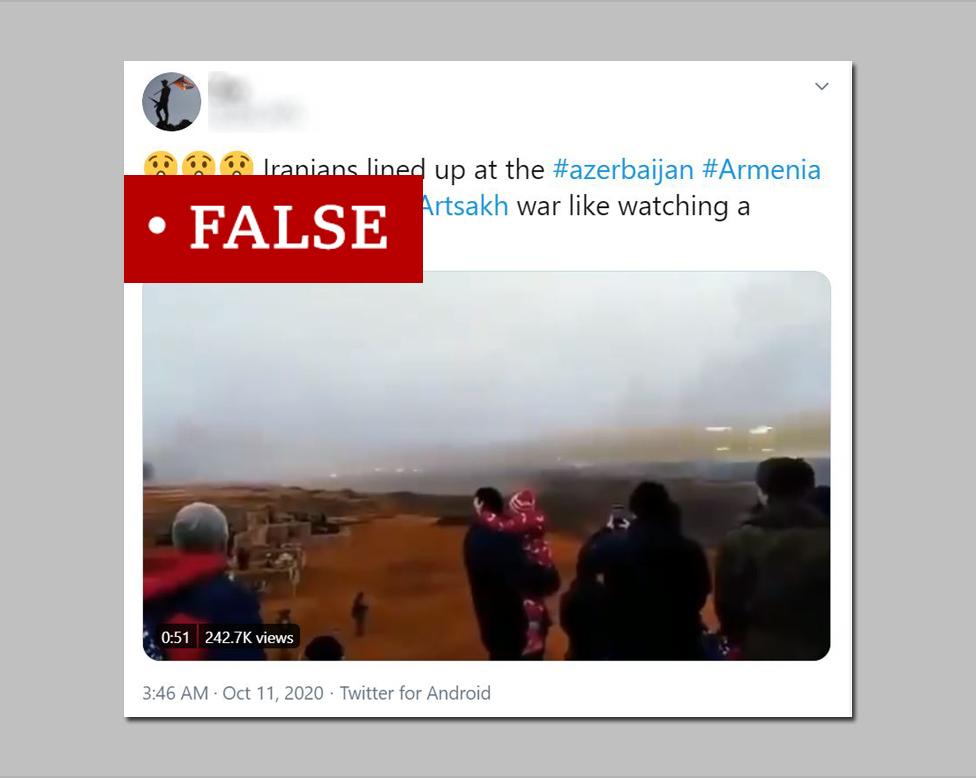 Screenshot of false tweet