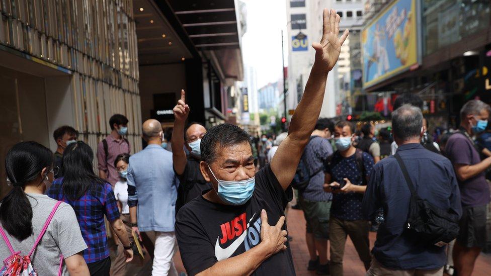 香港在10月1日仍然有示威。
