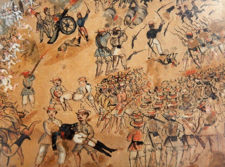 Ilustración de la Guerra de Castas de Yucatán