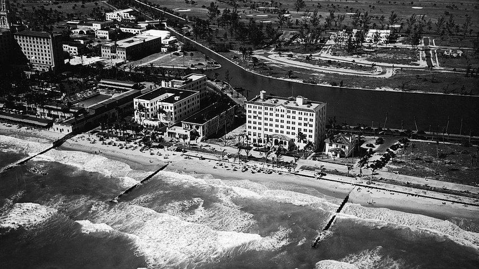 Imagen de Miami Beach en la década de 1930.