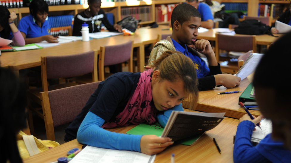 Estudiantes en una escuela del Bronx.
