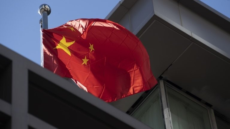 China flag at consulate in Houston