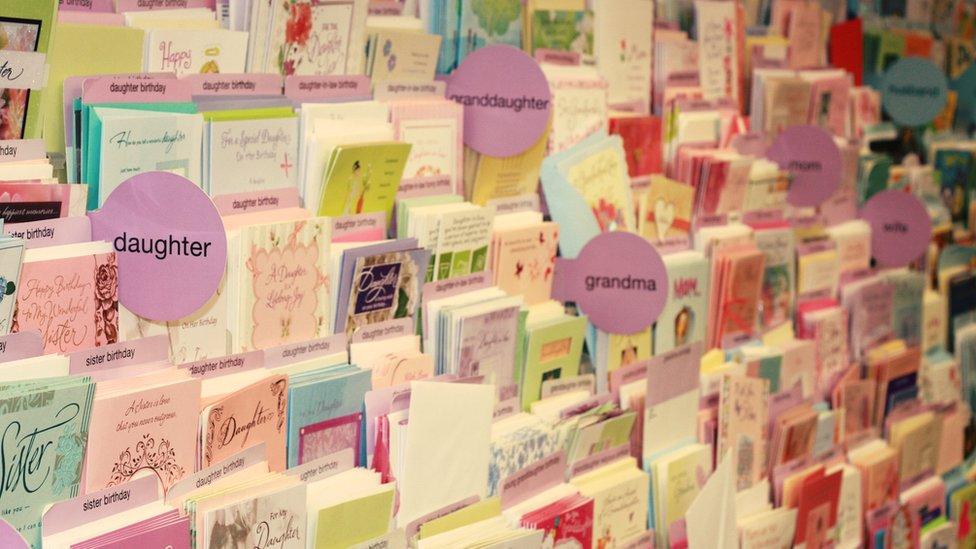 Greetings cards display