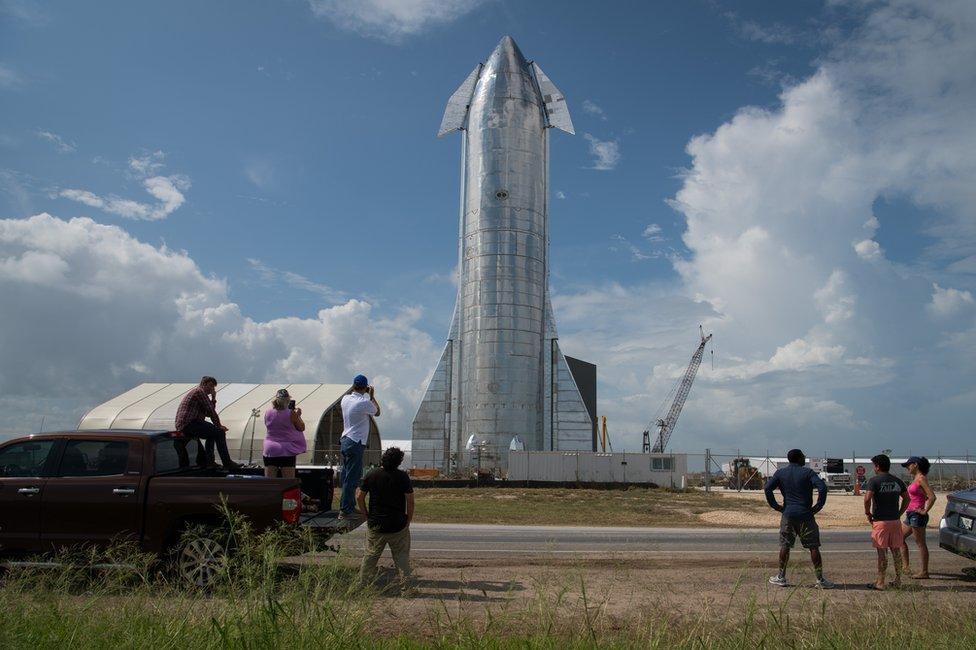 Starship prototype in Boca Chica