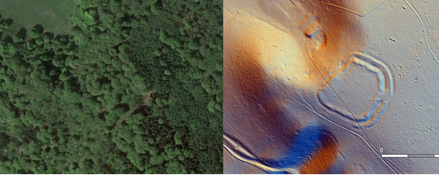 An example of LiDAR technology identifying a different hillfort in the Chiltern Hills