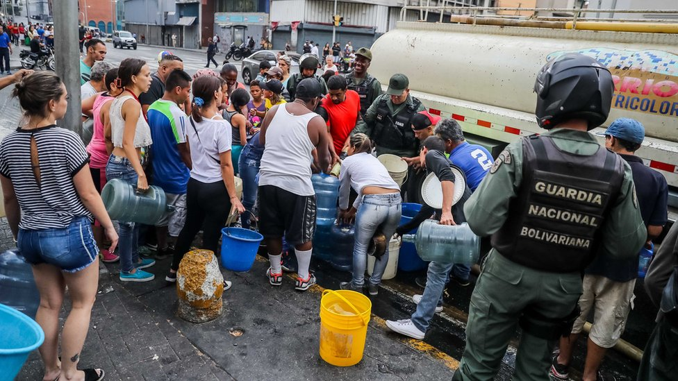Water distribution in Caracas