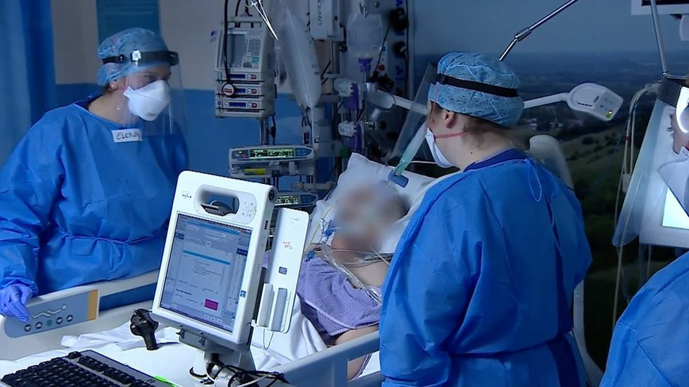 Medics on a ward