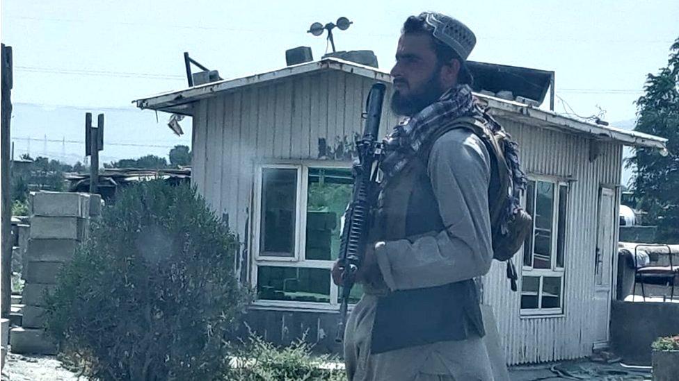 A Taliban guard