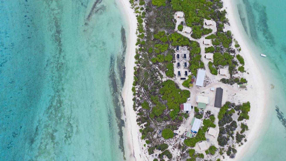 Imagen aérea de Seychelles.