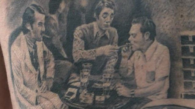 Boycie, Trigger and Del Boy tattoo