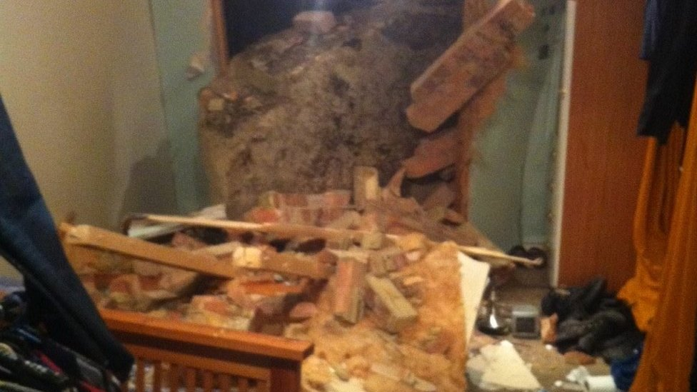 Hastings cliff fall: Rock crashes into bedroom