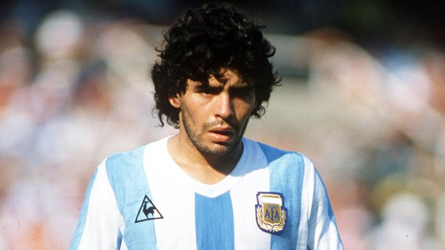 Diego Maradona was a marked man at the 1982 World Cup finals