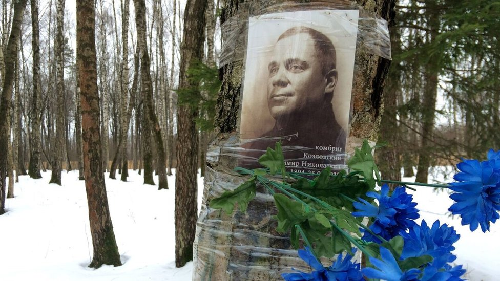 Commemorative poster of Stalin victim (February 2016)