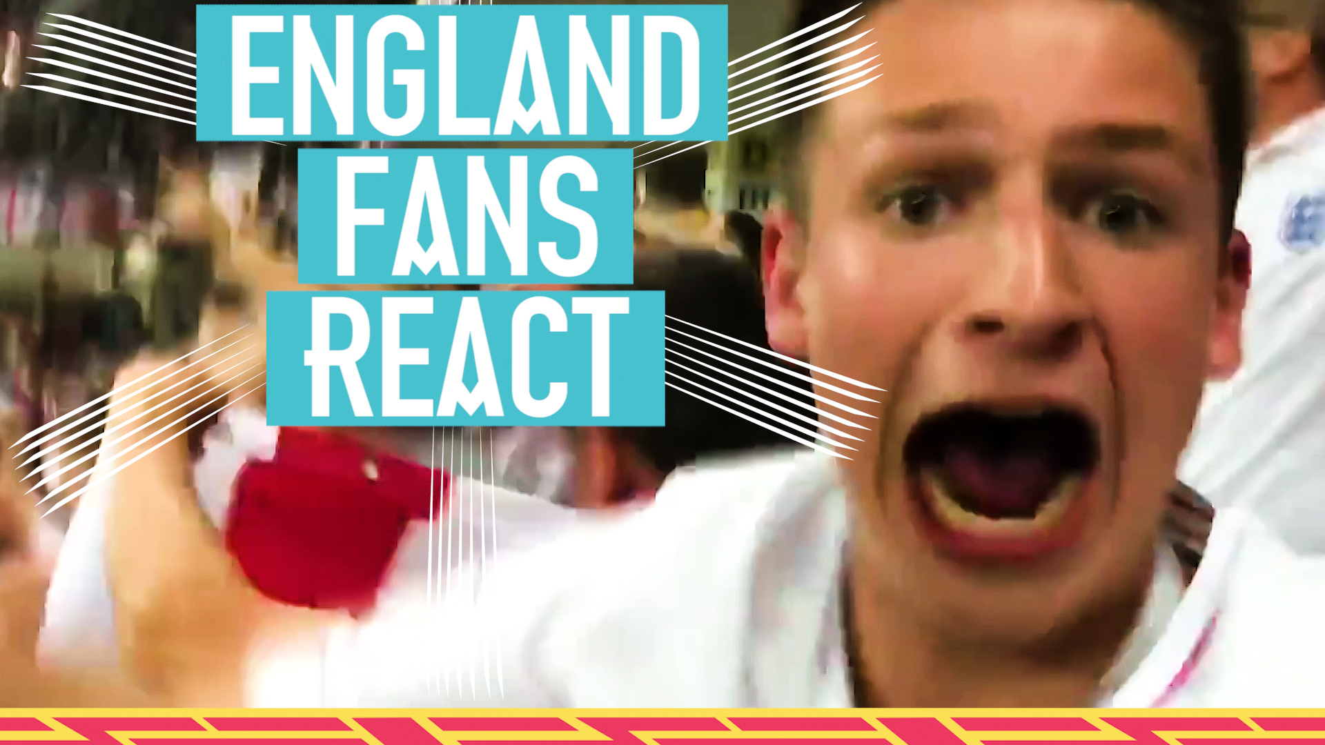 Watch the reaction of England fans to Harry Kane's last-gasp winner against Tunisia.