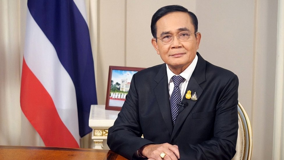 Prime Minister Prayuth Chan-ocha speaks on Thai Television pool in Bangkok, October 21, 2020